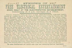 Trade Card For The Harness Electropathic Establishment 7689 V